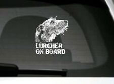 Lurcher On Board, Car Sticker, High Detail, Great Gift For Dog Lover