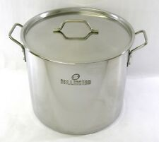 40 QT Quart 10 Gallon Stainless Steel Stock Pot Steamer Brew Kettle w/lid rack