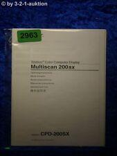 Sony Bedienungsanleitung CPD 200SX Multiscan 200sx Computer Display (#2963)