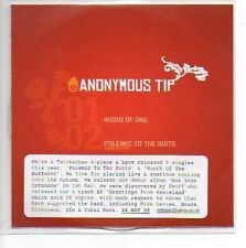 (4B) Anonymous Tip, Word of One - DJ CD