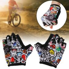 Kids Cycling Gloves Half Finger Breathable Skate Riding Anti Slip Sports Outdoor