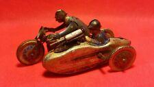 Ancien jouet en tole Side-car militaire SFA 756