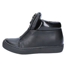 scarpe donna SARA LOPEZ 36 EU sneakers nero pelle sintetica BX704-36