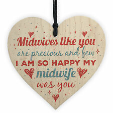 Midwife Thank You Gift Nurse Pregnancy Newborn Baby Gift Handmade Wooden Heart
