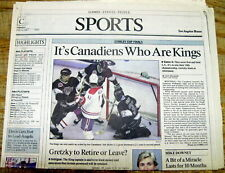 2 1993 newspapers THE MONTREAL CANADIENS win the NHL CHAMPIONSHIP Stanley Cup