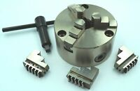 100MM FRONT LOAD 3 JAW SELF CENTERING CHUCK WITH REVERSIBLE JAWS (FRONT MOUNT)