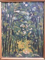 Belle Peinture Hst Huile Sur  toile signée impressionniste les aubelles  1931