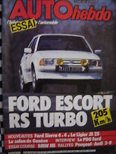 auto hebdo 1985 FORD ESCORT RS TURBO / BMW M1 GR.B BEGUIN / RALLYE PORTUGAL
