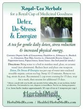 Detox, De-Stress, Energize Herbal Tea