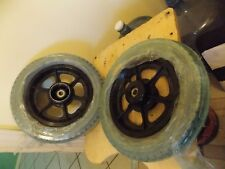 "WHEELCHAIR REPLACEMENT WHEELS 12 1/2 x 2 1/4"" BLACK 5 SPOKE MAG HUB w/TIRES"