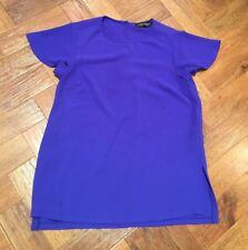 DOROTHY PERKINS Purple Chiffon Top Cap Sleeves Sz 6
