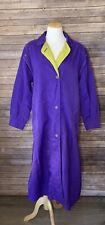 Vintage Neiman Marcus Purple Long Womens Trench Coat Button Down 7/8