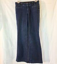 Banana Republic Women Jeans Wide Leg Denim Stretch Dark Wash 25-0 petitie 0