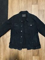 Men's Black Denim Jean Jacket Size XL