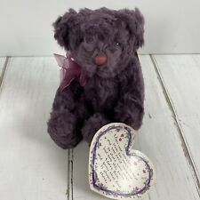 Bearberry From The Past Collection Russ Bertie Bears Plush with tag heart poem