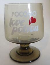 Vtg Pocono Love Potion Cocktail Glass Resort Mountains Honeymoon Annniversary