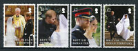 BIOT 2018 MNH Prince Harry & Meghan Royal Wedding 4v Set Royalty Stamps