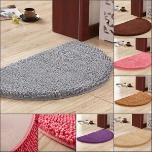 Chenille Half Circle Round Moon Hearth Rugs Bathroom Floor Carpets Door Mats