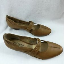 Joseph Seibel Womens Brown Leather Cross Strap Mary Jane Comfort Shoes US 9.5