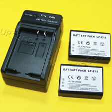 New 1160mAh Canon Eos Rebel T3 T5 T6 1100D 1200D 1300D Battery Lp-E10 + Charger