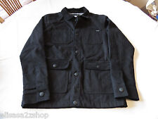Men's Quiksilver coat jacket S black 001 NEW NWT surf skate brand snap 4 pockets
