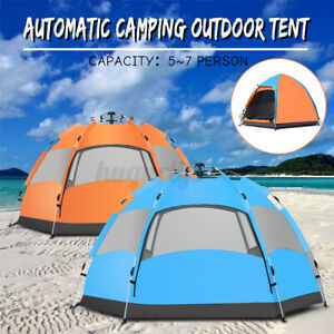 Waterproof Automatic 5-7 People Outdoor Instant Popup Tent Camping Hiking  U