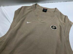VTG Nike Team Sweater Vest Tan Men's Size XL RARE!!