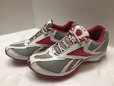 Reebok TrainTone Women's Training Shoes Pink/Silver/Gray/White Size 9.5M Nice!!!