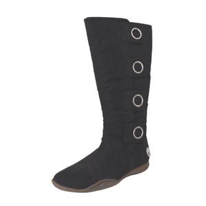 Timberland Sierra Vista Tall 14 IN Womens Boots SZ 7.5 Black Fashion 55353 Vntg