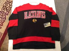 NWT NHL Chicago Blackhawks Spell Out Embroidered Sweatshirt SZ XL - Cool