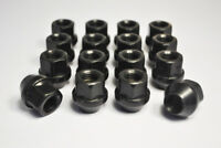 Set of 16 x M12 x 1.5, 19mm Hex Open Alloy Wheel Nuts (Black)