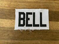 BELL Game Used Worn Ottawa Senators White Jersey Nameplate