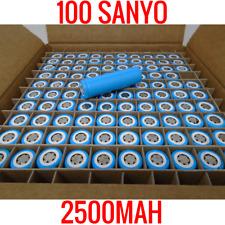 100 SANYO 18650 UR18650ZK 2500MAH CELLS LITHIUM ION BATTERY POWERWALL EBIKE VAPE