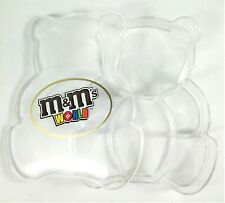 M&Ms Box World Shaped Bear Figurine Rare Figure Container Toy Kids Gift Figurine