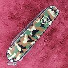 Victorinox Huntsman Swiss Army Knife, Green Camouflage, 91mm