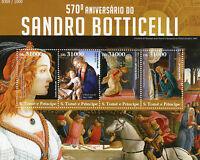 Sao Tome & Principe 2015 MNH Sandro Botticelli 4v M/S Simonetta Vespucci Stamps