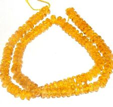 CR331 Yellow Quartz 6mm Faceted Rondelle Cut Crystal Glass Beads 100pc