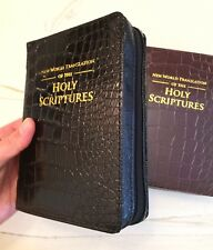 2 NEW WORLD TRANSLATION BIBLE COVERS, BLACK & BROWN GATOR, Jehovah's Witness