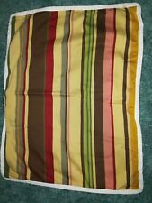 Pottery Barn Standard Pillow Sham Cover Duncan Stripe Yellow Green Red Brown