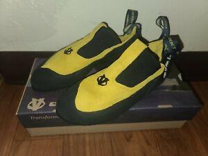 Size 8.5/ Evolv Addict Climbing Shoes / Lemon Yellow color