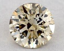 0.74 CT FANCY LIGHT BROWN-YELLOW ROUND BRILLIANT GIA LOOSE DIAMOND TAX FREE Gift
