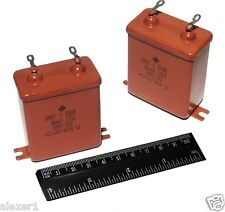 4x 10uF 200V 5% OMBG-2 /  MBGO-2 USSR  PIO Capacitors