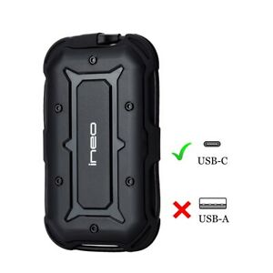 2TB USB-C Rugged Shockproof Waterproof External Hard Drive for MacBook Pro 2018~