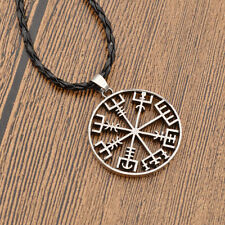 Vintage Viking Compass Pendant Necklace Pirate Women Mens Fashion Jewelry Gift