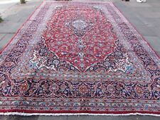 Old Hand Made Traditional Persian Rugs Oriental Wool Red Large Carpet 479x295cm