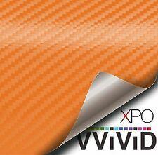 Orange 3D Carbon Fiber Interior Vinyl Wrap XPO by Vvivid FREE Shipping USA & Can