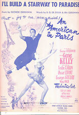 "An American In Paris Sheet Music ""I'll Build A Stairway To Paradise"" Gene Kelly"