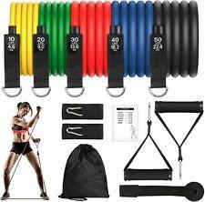 11Pcs Fitness Latex Resistance Yoga Bands Set Training Exercise Yoga Gym Elastic