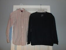 Lot of 2 Youth Boys Shirts Size Large The Childrens Place Old Navy Casual Wear
