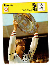 Chris Evert Signed 1977 Sportscasters Collectors Card Autograph REDUCED